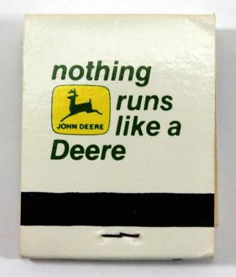 Vintage John Deere Matchbook ~ Nothing Runs Like a Deer ~ Stronghurst, ILL