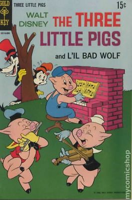 Three Little Pigs (Gold Key) #2 1964 VG- 3.5 Stock Image Low Grade