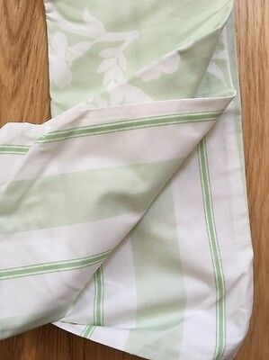 pottery barn kids ELIZA, toddler duvet, Reversible Green/white, Stripe/floral