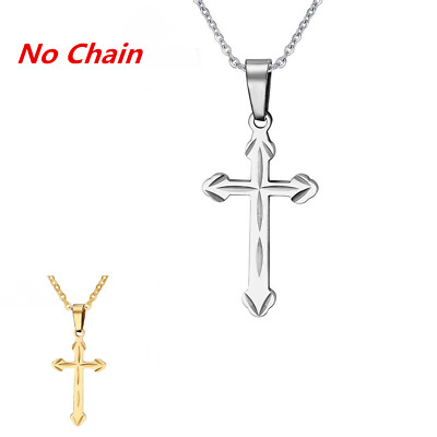 Mens Womens Jewelry New Hot Cross Pendant Titanium Steel Necklace Gift