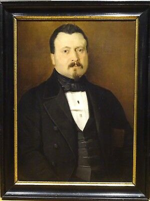 Large 19th Century French Gentleman Portrait Impressionist Edgar DEGAS Antique