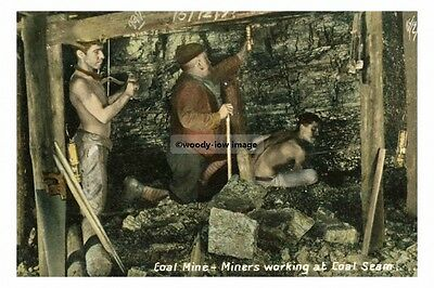 pt4527 - Wigan , coal miners working at coal seam , Lancashire - photograph 6x4