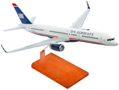 "Airplane US Airways  Boeing 757-200  Large Desk Top 19""  Wooden Model Aircraft"