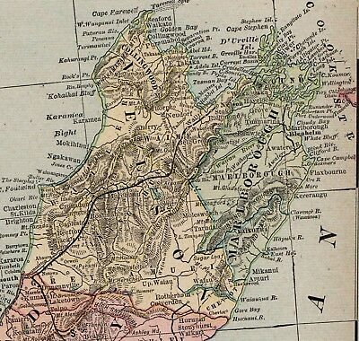 Map Of Australia 1901.Vintage 1901 New South Wales Australia Map Old Antique Original