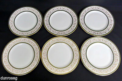 "6 MINTON ARAGON 27cm 10.5"" DINNER PLATES, 1st QLTY, VERY GOOD CONDITION, ENGLAND"