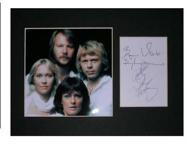 ABBA signed printed autograph photo print mounted gift display