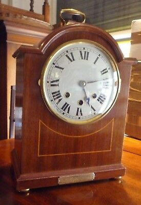Antique Westminster Chime Bracket Clock With Presentation Plaque Artists Rifles
