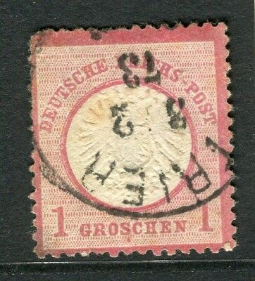 GERMANY; 1872 early classic Shield issue used 1g. value, POSTMARK