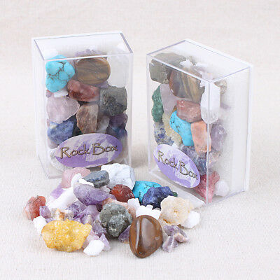 Rock Collection Mix Gems Crystals Natural Mineral Stone Ore Specimens Decor 1Box