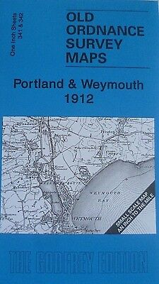 Old Ordance Survey Map Portland & Weymouth & Map Lulworth Cove 1912 Sheet 341/2