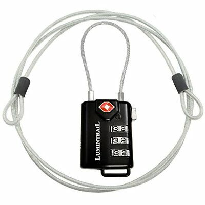 TSA Approved Cable Luggage Locks plus Bonus 4 Foot Steel Cable Lumintrail Travel