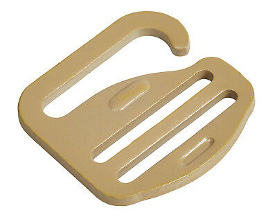 """25mm / 1"""" Tan G Hook - Military Specification Buckle  - 70 Kg Tensile Strength"""
