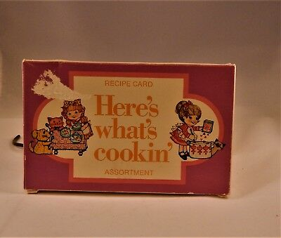 Vintage Recipe Cards * Here's What's Cookin' * New In Box by Current * about 50