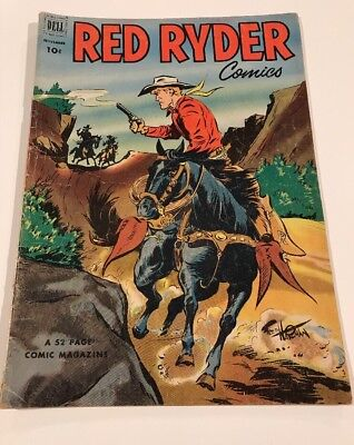 1952 Issue # 112 Red RYDER COMICS Vintage Western Cowboy DELL Comic Book 10 Cent