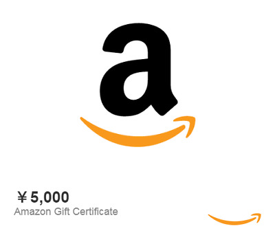 5000 Yen Amazon Japan gift card voucher