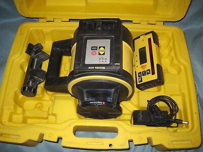 Leica Rugby 820 Rotating Laser Level ,Rod Eye-160 Case