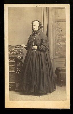 1860's CDV Portrait of Mrs. Jane Hawkins by Edwin Tindall Watson, Hull, England