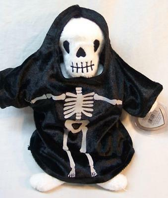 """TY Beanie Babies CREEPERS THE SKELETON 9"""" PLUSH STUFFED ANIMAL TOY 2001 NEW"""