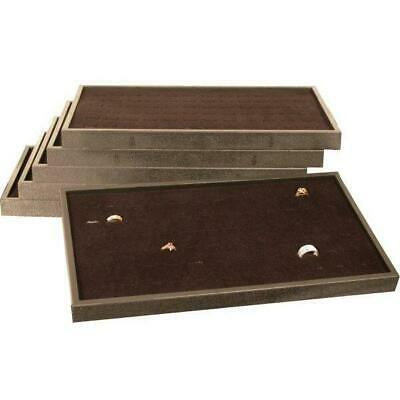 6 72 Slot Black Ring Display Box Trays Case Fixture