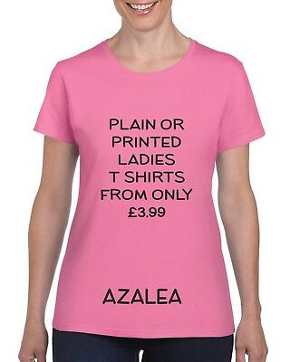 Personalised Printed Ladies T Shirt - Hen Parties Holidays Also In Plain