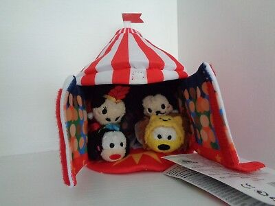 New Disney Store Circus Tent Mini Tsum Tsums Mickey Minnie Goofy Pluto