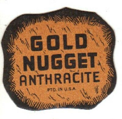 """A  Coal Mine Scatter Tag """" Gold Nugget Anthracite """" Genuine Pa  Coal!"""
