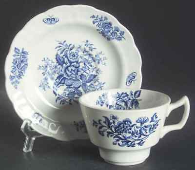 Booths PEONY BLUE Oversized Cup & Saucer 38534