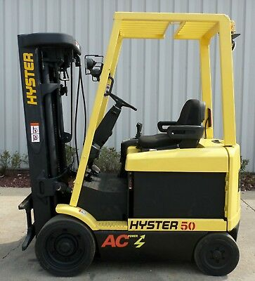 Hyster Model E50Z-33 (2004) 5000lbs Capacity Great 4 wheel Electric Forklift!
