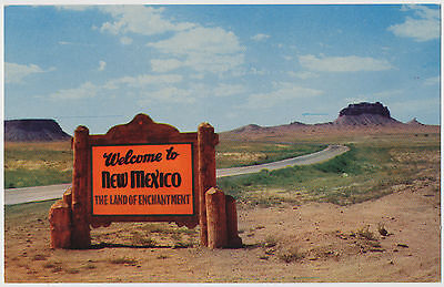 """Welcome Sign, New Mexico """"The Land of Enchantment"""""""
