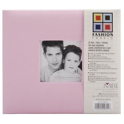 Mcs Mbi 9.6x8.5 Inch Fashion Fabric Scrapbook Album With 8x8 Inch Pages With -