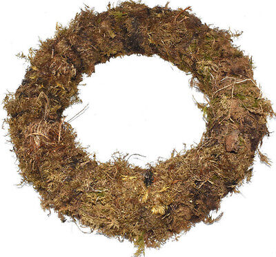 "Christmas Door Wreaths Pre Made Ring 12"" Real Moss Rings Wire Floristry Xmas"