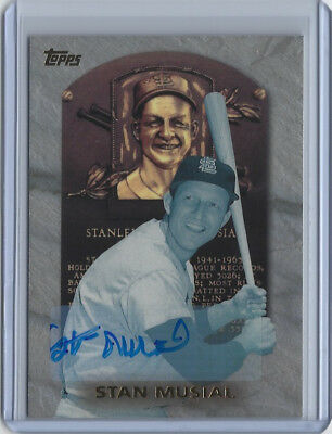 Stan Musial signed 1998 Topps Hall of Fame autograph baseball card auto STM COA