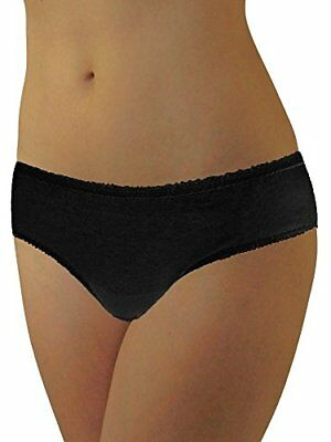 Womens Disposable 100% Cotton Underwear - for Travel- Hospital Stays- Black