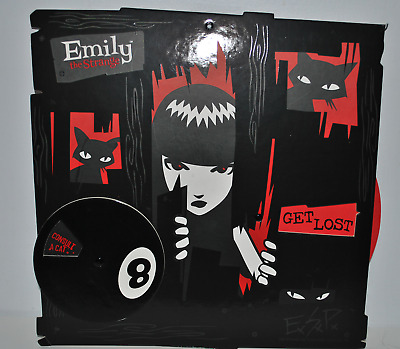 Emily the Strange - Wheel of Misfortune Goth Sign NIP New Black Cat Halloween