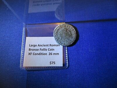 Large 26 mm Ancient Roman Bronze Follis Coin XF Free Shipping