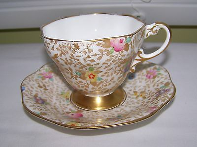VINTAGE FOLEY English Bone China CHINTZ Tea Cup TEACUP & Saucer Made in England