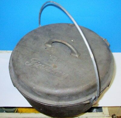 Antique Findlay Number 9 Cast Iron Dutch Oven With Lid Pot Made In Canada