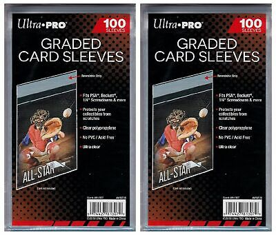 200 Ultra Pro Graded Card Sleeves Resealable  Bags Strip  New Acid Free No PVC