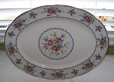 "Royal Albert PETIT POINT Bone China 13"" Oval Serving Platter Made in England VGC"