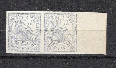 Spain Scott 203a Mint pair (no gum as issued) - Catalog Value $27.00