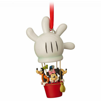 NEW Disney Mickey Mouse & Friends Balloon Club House 2018 Sketchbook Ornament