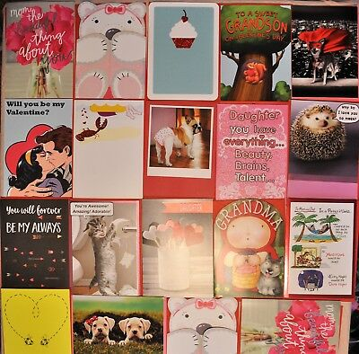 LOT of 20 VALENTINE'S Day Cards! Love Greeting Cards With Envelopes - New!