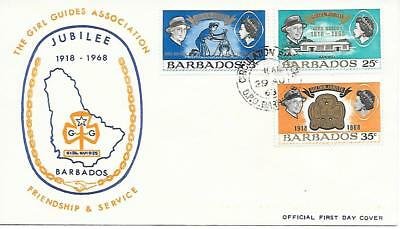 Barbados - Girl Guide Association Jubilee - FDC. 29.08.68