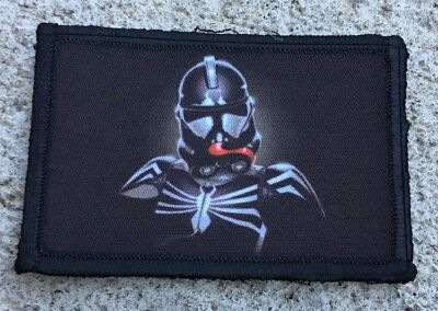 Venom Stormtrooper Morale Patch Military Tactical Army Flag USA Badge Star Wars