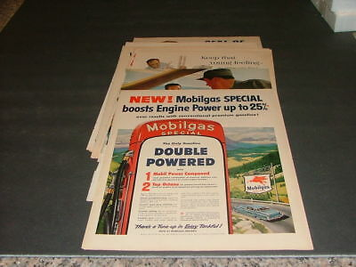 11 Mobil Gasoline Full Page Color Ads From 1950's & 1960's Life Magazine ID:1331