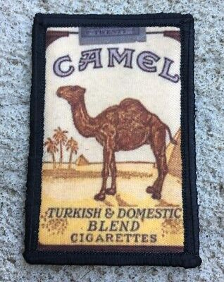 Vintage Camel Cigarettes Artwork Morale Patch Tactical Military Army Flag USA