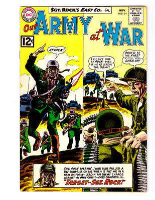 OUR ARMY AT WAR #124 in VF- grade 1962 DC WAR comic with SGT ROCK & Easy Co.