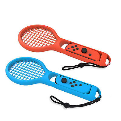 Twin Pack Tennis Rackets Red And Blue For Nintendo Switch Mario Aces Game