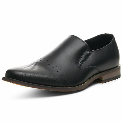 Alpine Swiss Double Diamond Men's Leather Loafers Oxford Slip-on Dress Shoes