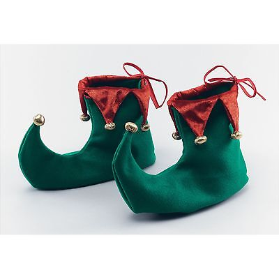 CHRISTMAS ELF FESTIVE PANTO SHOES SANTA'S HELPER Mens Ladies Fancy Dress